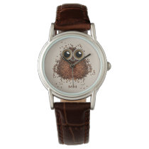 Coffee Owl custom monogram watches