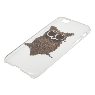 Coffee Owl iPhone 7 Clearly™ Deflector Case