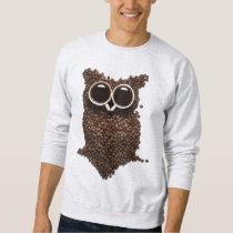 Coffee Owl Light Sweatshirt