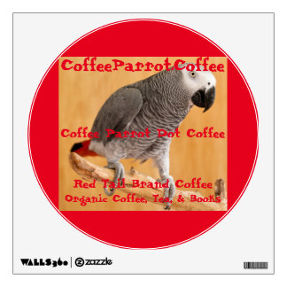 Coffee Parrot Dot Coffee Red Tail Brand Decal Room Sticker