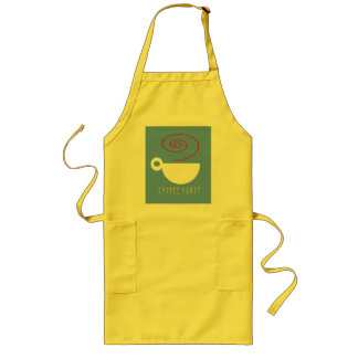 Coffee party (choose your fabric color) Apron