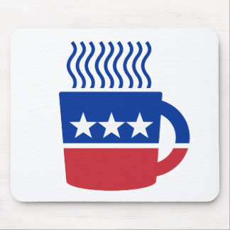 Coffee Party Logo Liberal Democrat Mouse Pad