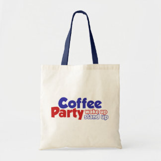 Coffee Party Movement Wake up Stand Up Canvas Bag