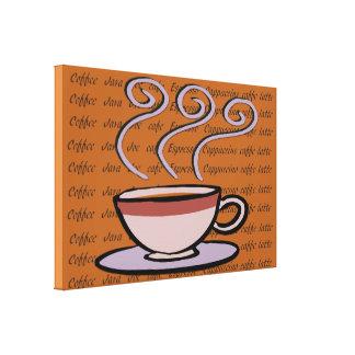 Coffee - Pastel Mug Design Canvas Print