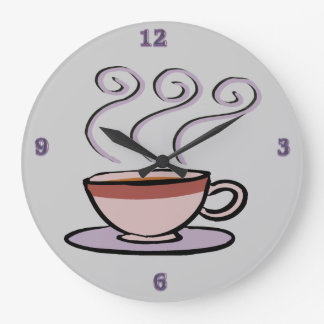 Coffee - Pastel Mug Round Wall Clock