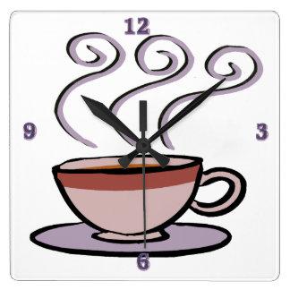 Coffee - Pastel Mug Square Wall Clock