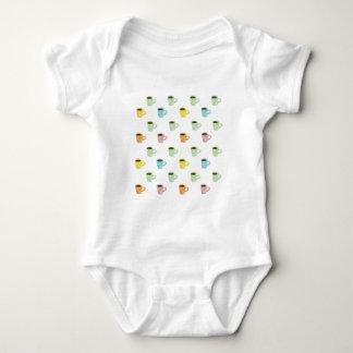 Coffee Pattern Baby Bodysuit