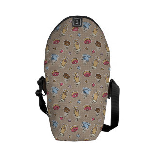 Coffee pattern courier bag