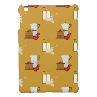 Coffee pattern cover for the iPad mini
