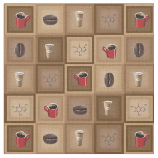 Coffee Pattern Fabric by Genepool Design