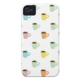 Coffee Pattern iPhone 4 Cover