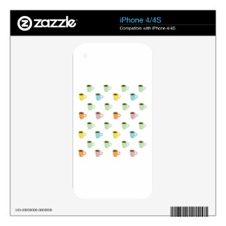 Coffee Pattern iPhone 4S Decal