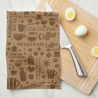 Coffee Pattern Kitchen Towel