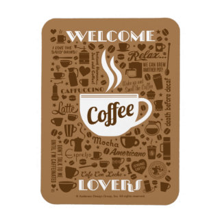 Coffee Pattern Magnet