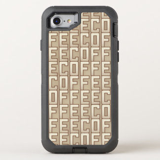 Coffee Pattern OtterBox Defender iPhone 7 Case