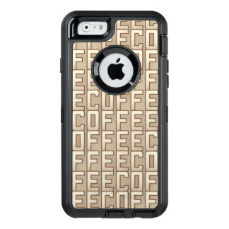 Coffee Pattern OtterBox Defender iPhone Case