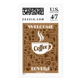 Coffee Pattern Postage
