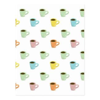 Coffee Pattern Postcard