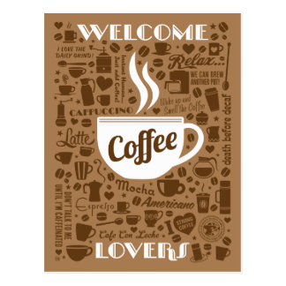 Coffee Pattern Postcard