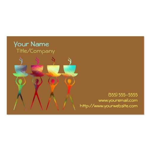 Coffee People Rainbow Business Card Template