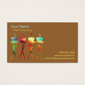 Coffee People Rainbow Business Card Template