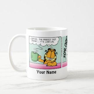 """Coffee. Perfect Diet Drink"" Garfield Comic Strip Classic White Coffee Mug"