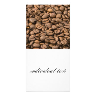 coffee personalized photo card