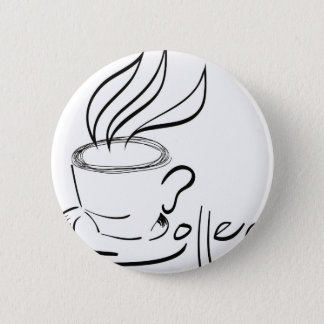 coffee pinback button