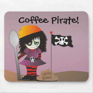 Coffee Pirate - Emo Elzie Has Coffee! Mouse Pad