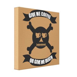 Coffee Pirate Skull and Crossbones Print
