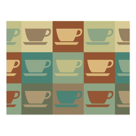 Coffee Pop Art Postcard