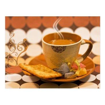 Coffee Themed coffee postcard