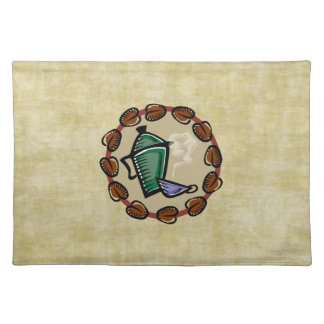Coffee Pot and Cup Cloth Placemat