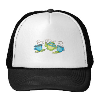 COFFEE POT AND CUPS TRUCKER HAT
