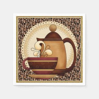 Coffee Pot and Mug paper napkin