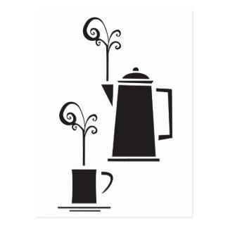 Coffee Pot and Mug Postcard