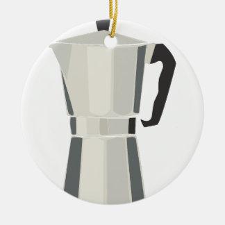 Coffee Pot Ceramic Ornament