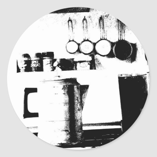 Coffee Pot Classic Round Sticker