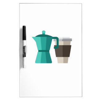 Coffee Pot Dry Erase Whiteboards