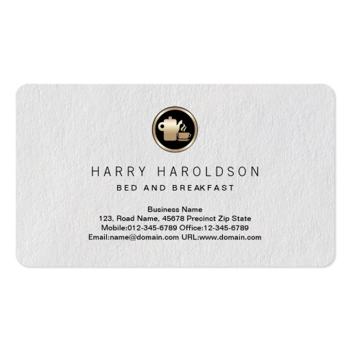 Coffee Pot Icon Bed Breakfast Premium BusinessCard Business Card