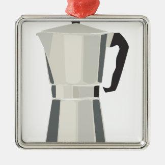 Coffee Pot Metal Ornament