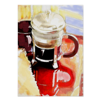 Coffee Pot on the Table Poster