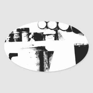 Coffee Pot Oval Sticker