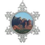 Coffee Pot Rock I in Sedona Arizona Snowflake Pewter Christmas Ornament