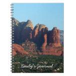 Coffee Pot Rock I in Sedona Arizona Spiral Notebook