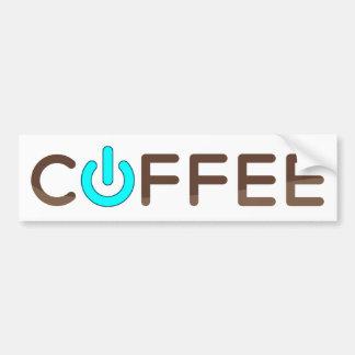 Coffee Power (BLue) Bumper Sticker