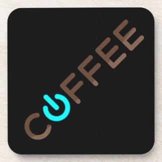 Coffee Power (Blue) Drink Coaster