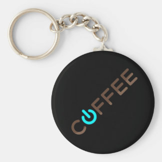 Coffee Power (Blue) Key Chain