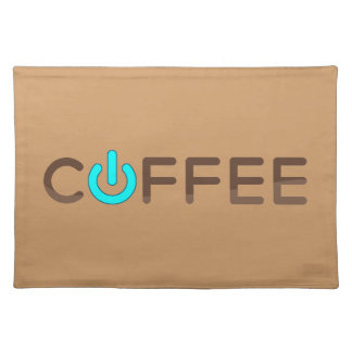 Coffee Power (Blue) Placemat