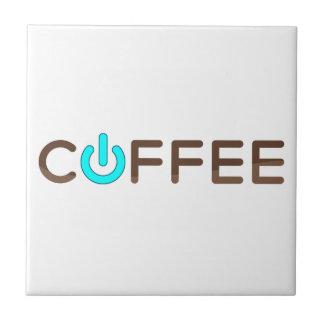 Coffee Power (Blue) Tile